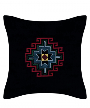 """Pillow """"Miskaryan heritage"""" embroidered with Armenian ornament №33"""