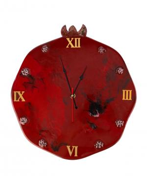 """Wall Clock """"Wood Clock"""" wooden, big"""