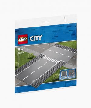 Lego City Կառուցողական Խաղ Ուղիղ և Т-աձև Խաչմերուկ