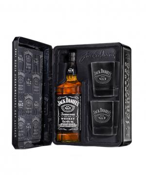 Վիսկի «Jack Daniels» 700մլ տուփով և բաժակներով