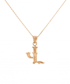Pendant `Less is more` gold №31