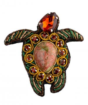 "Brooch ""LilmArt"" handmade turtle"