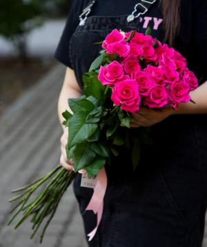 Վարդեր «Topaz»  վարդագույն 15 հատ