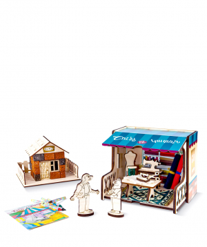 Խաղալիք «Շունն ու կատուն» փայտե