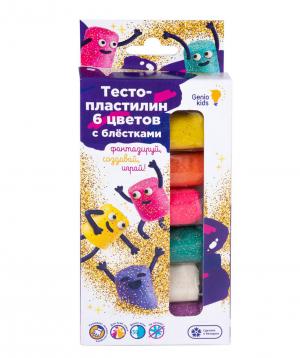 Plasticine for kids «6 mashmelow colors with glitter»