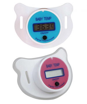 Thermometer-pacifier, digital, Baby, LCD,