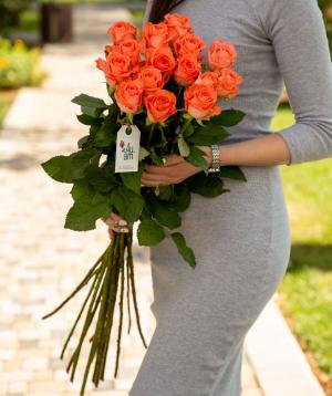 Roses `Giardinia` orange 15 pcs