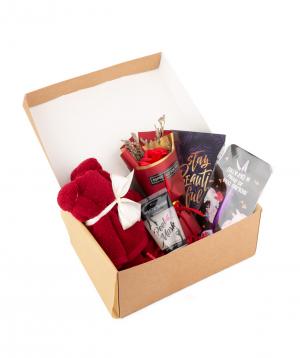 Gift box `Wonder Me` red sunset