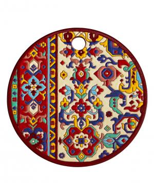 "Cheese plate ""ManeTiles"" decorative, ceramic №42"