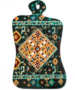 "Cheese plate ""ManeTiles"" decorative, ceramic №21"
