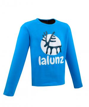 """T-shirt   """"Lalunz""""  blue, long sleeve"""