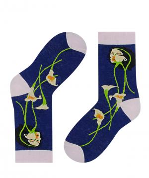 Գուլպաներ «Zeal Socks» կանացի դիմագծեր կապույտ