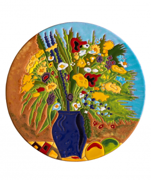 "Cheese plate ""ManeTiles"" decorative, ceramic №43"