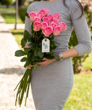 Roses `Revival` pink 15 pcs