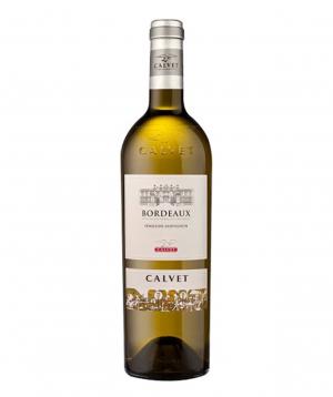 Wine `Calvet Classique Bordeaux` white, dry 750ml