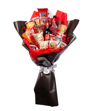 Bouquet `Noale` with beers and nuts