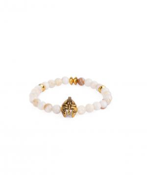 Bracelet `Ssangel Jewelry` men`s №18, with natural stones