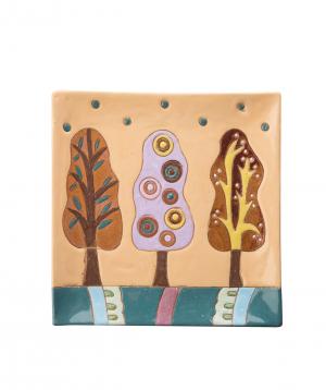 """Plate """"Nuard Ceramics"""" Trees, dessert №1"""