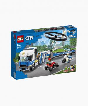 Lego City Կառուցողական Խաղ «Ոստիկանական ուղղաթիռի քարշակ»