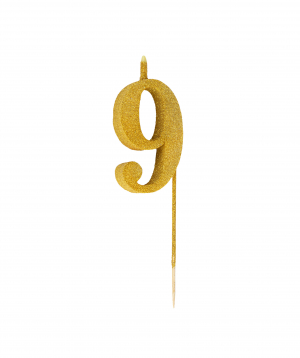 Candle numbers, golden, shiny