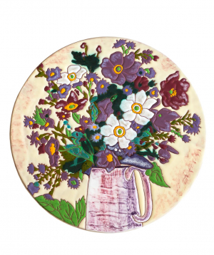 "Cheese plate ""ManeTiles"" decorative, ceramic №29"
