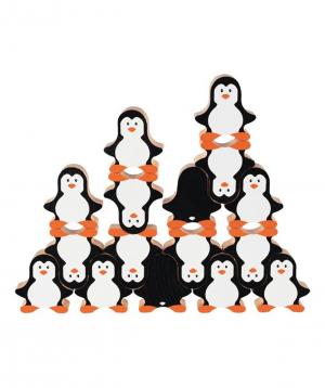 Toy `Goki Toys` stacking penguins