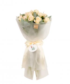 Ծաղկեփունջ «Բիասկա» վարդերով