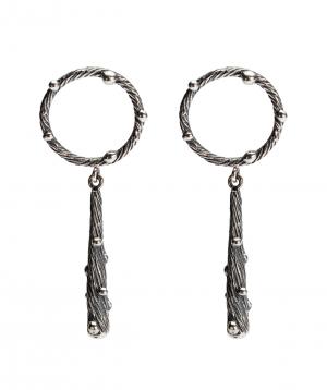 Earrings `DF Project` wild silver №4