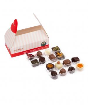 Տուփ «Gourme Dourme» շոկոլադե կոնֆետներով, սիրային
