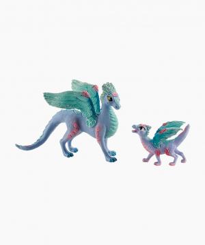 Schleich Mythical figurine Flower dragon and child