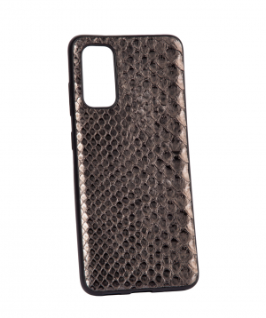 """Case """"Monarch"""" for phone, silicon, with a combination of genuine phyton leather №9"""