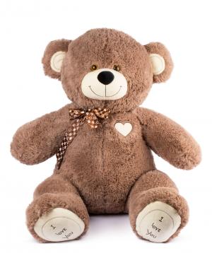 Bear Teddy `I love you` brown