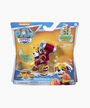 Spin Master Cartoon Character Figurine Paw Patrol Mighty Pups: Marshall