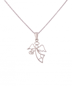 Pendant `Less is more` gold angel