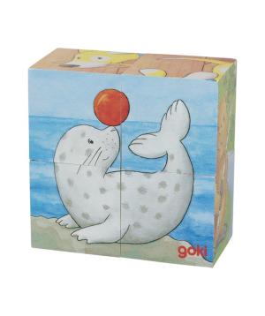 Խաղալիք «Goki Toys» փազլ փոքրիկ կենդանիներ