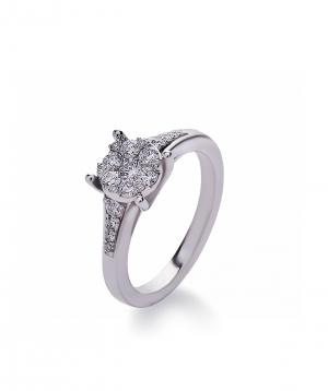 "Ring ""Lazoor"" golden, with diamond stones №1"