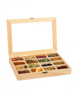 "collection ""Dilli Tea"" tea, in a wooden box"