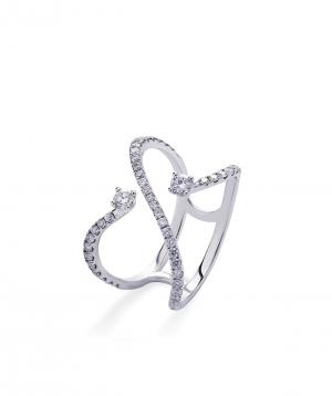 "Ring ""Lazoor"" golden, with diamond stones №16"
