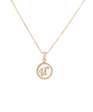 """Pendant """"Less is more"""" gold №42"""
