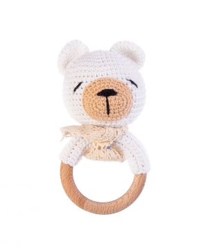 """Rattle """"Crafts by Ro"""" bear №1"""