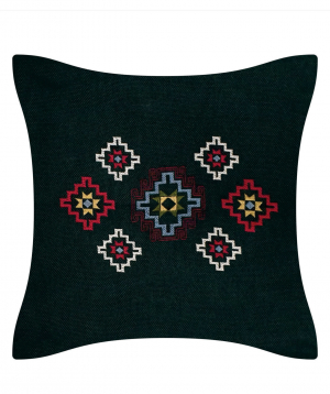 Pillow `Miskaryan heritage` embroidered with Armenian ornament №30