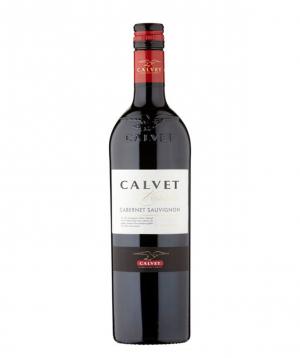 Wine `Calvet Cabernet Sauvignon` red, semi-dry 750ml