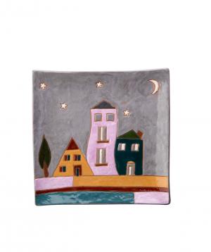 "Plate ""Nuard Ceramics"" city, dessert №3"