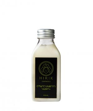 Կաթ «Hirik Cosmetics» վանիլ և կարիտե, դիմահարդարումը մաքրող