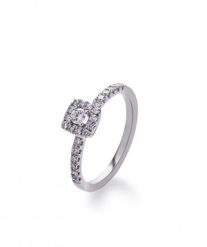 "Ring ""Lazoor"" golden, with diamond stones №5"