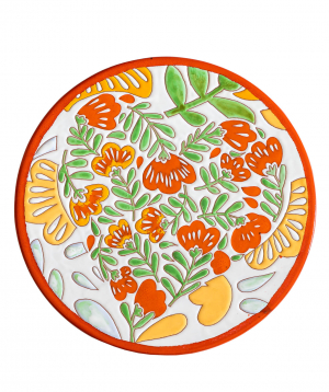 "Cheese plate ""ManeTiles"" decorative, ceramic №23"