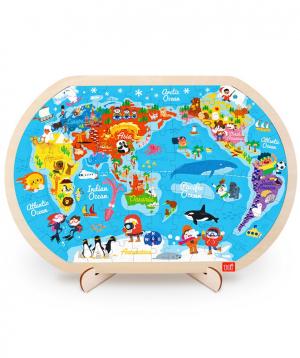 Փազլ «Toi» աշխարհի քարտեզ
