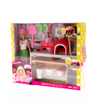 Set `Barbie` pizza chef