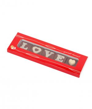 Տուփ «Gourme Dourme» շոկոլադե կոնֆետներով, Love