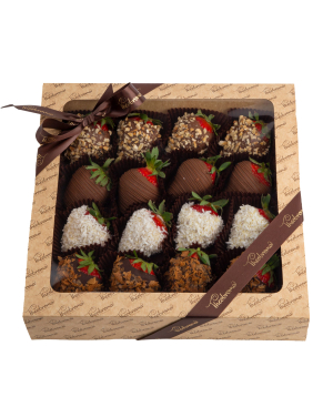 """Strawberry """"Theobroma"""" in chocolate with different flavors"""